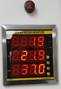 Monitgoring room pressure and condition is important in operating a clean room